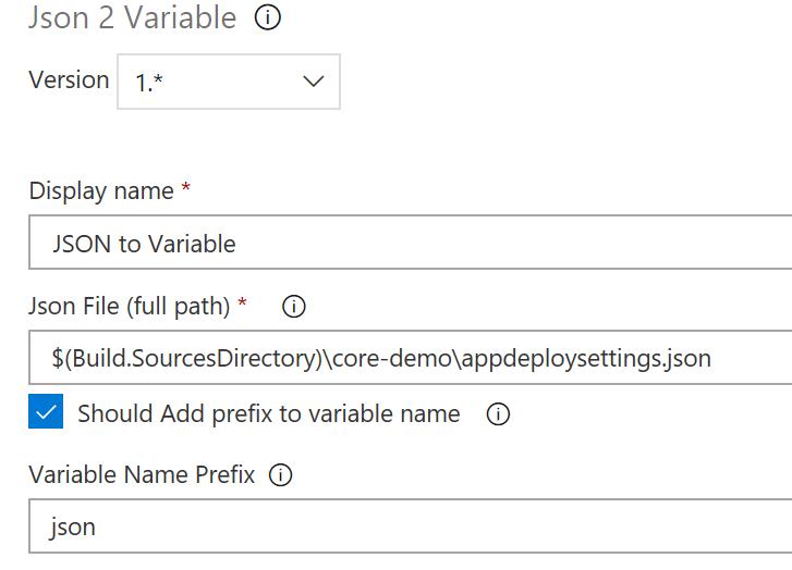 Json to Variable - Visual Studio Marketplace